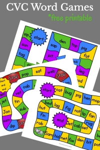 Learning to sound out words can be fun with these CVC word games. Free phonics printables just waiting to printed and played with your kindergartener or first grader.