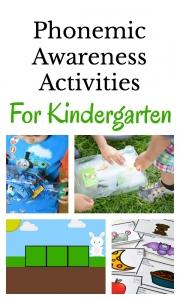 Lots of developmentally appropriate phonemic awareness activities for kindergarteners.