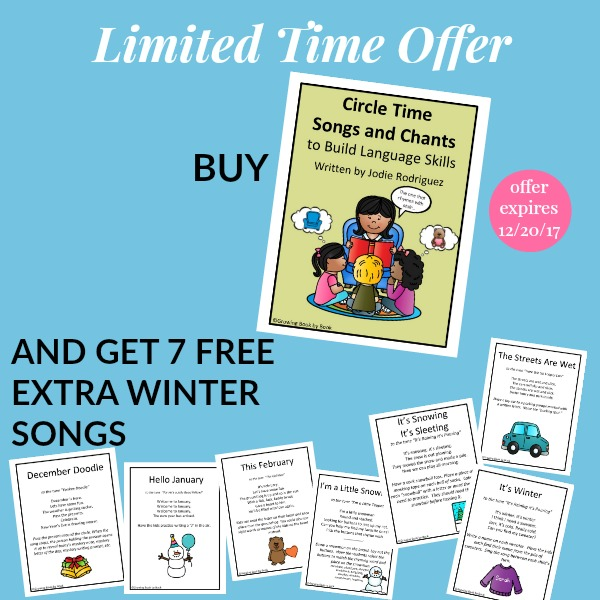 winter circle time bonuses to compliment 35 Circle Time Songs and Chants to Build Literacy Skills