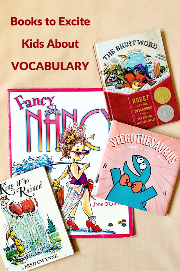 Books that build children's vocabulary.