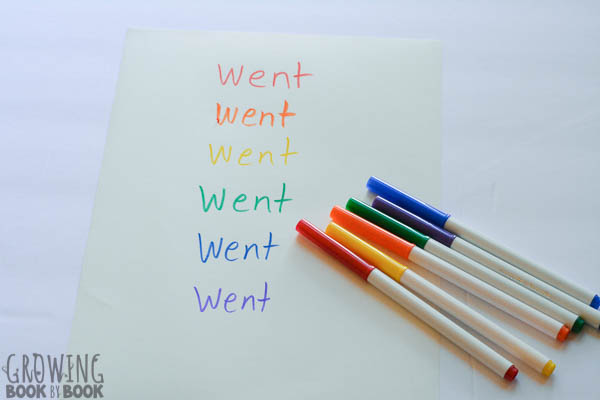 sight word and spelling practice ideas