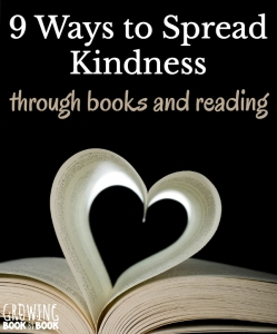 Random acts of kindness ideas for kids and families to spread a love of reading and books.