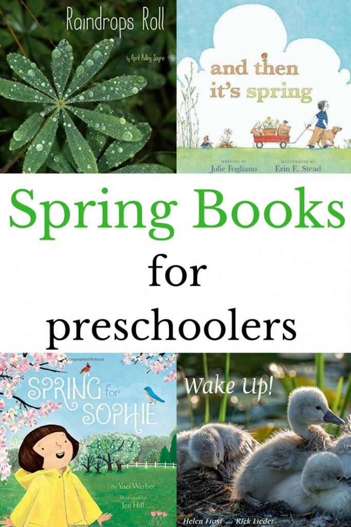 New and old favorites spring preschool books. Explore the spring weather, baby animals, and activities perfect for spring through these picture books.