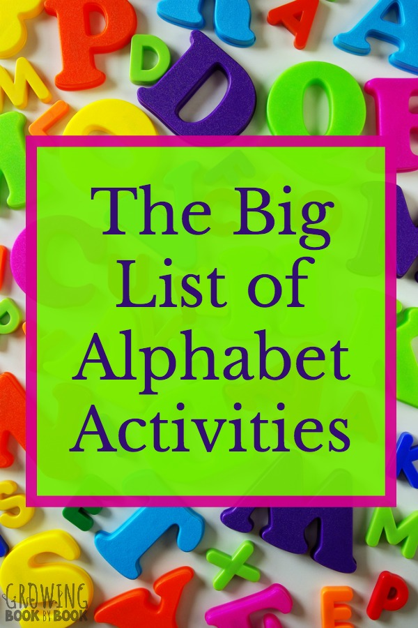 A big list of alphabet activities that are perfect for toddlers, preschoolers, and kindergarteners. All ideas are hands-on and playful.