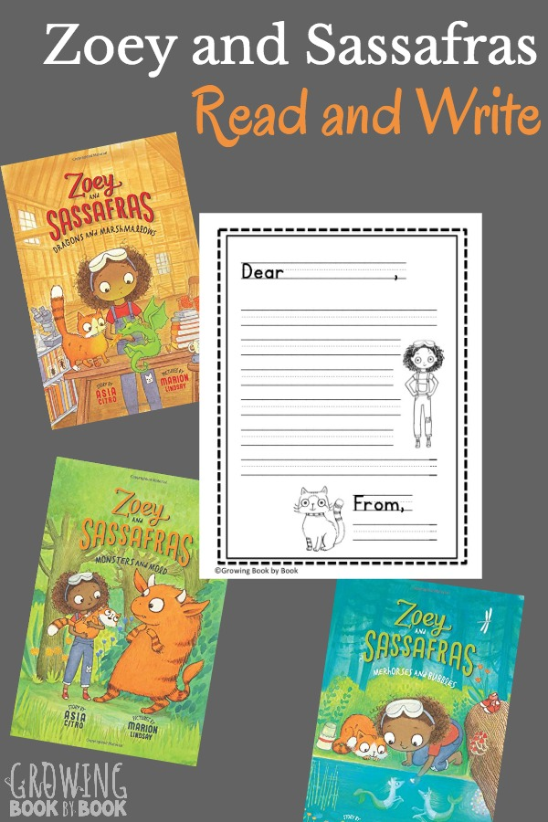 Print this free stationery for kids to write their own letters to the magical creatures in Zoey and Sassafras.