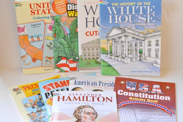 Dover Publication coloring and activity books