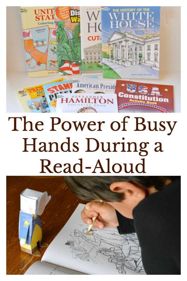 Help kids focus during a read aloud with coloring and activities to keep hands busy.