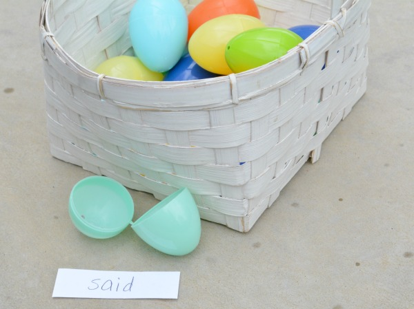 Play a game of rotten eggs to build early literacy skills.