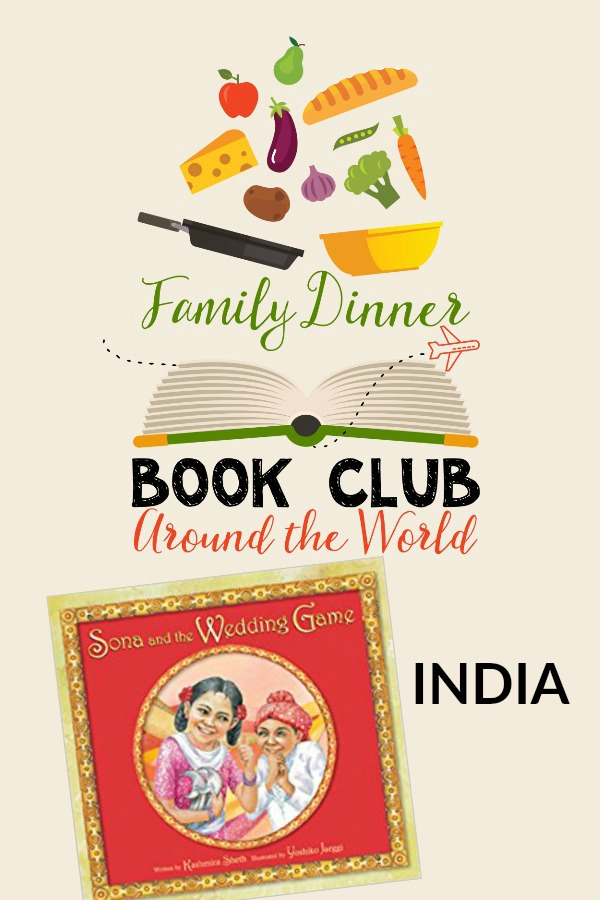 Travel to India for a Family Dinner Book Club complete with an Indian menu, table craft, conversation starters, and a family service project.