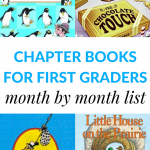 A month-by-month guide of the best chapter books for 1st graders to read aloud. A printable list is included to keep track of all the books.