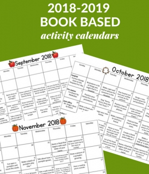 Homework calendars for early childhood educators and families