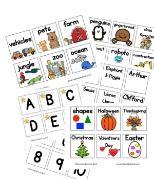 Classroom library labels are perfect for labeling book bins in a early childhood classroom. A great way to organize your library!