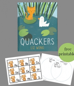 The 2017 Jumpstart Read for the Record book is Quackers. Try these Quackers activities with the kids to celebrate the book and the day. Free printables include an alphabet game, Venn Diagram sorting sheet, and math story problems.
