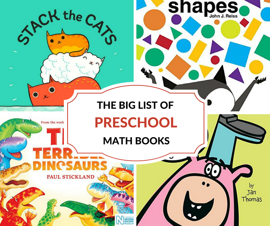 The Big List of Preschool Math Books