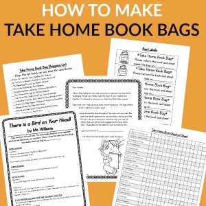 How to start a take home book bag program to promote family involvement and assist families with reading with their kids.