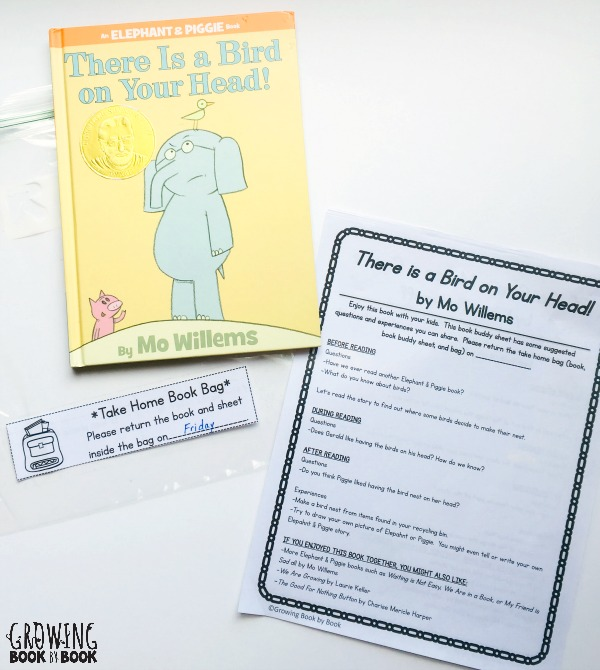 Make book buddy take home bags for your classroom.