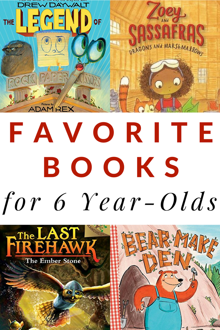 Favorite books for six-year-olds. A great list of books that the kids will beg you to read again and again.