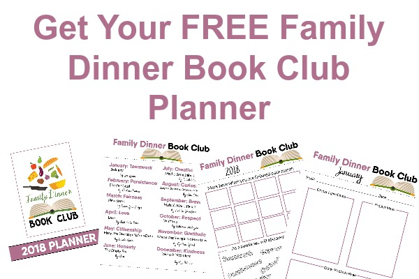 family dinner book club planner which is a free printable