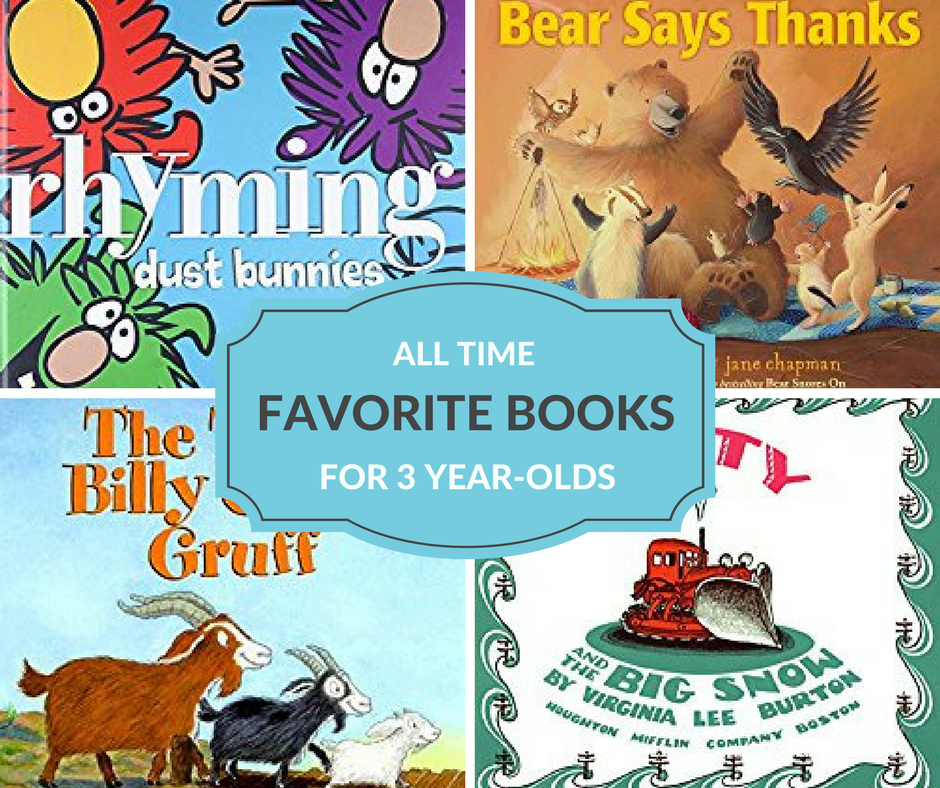 The best books for 3 year-olds that will have preschoolers begging for you to read over and over again.