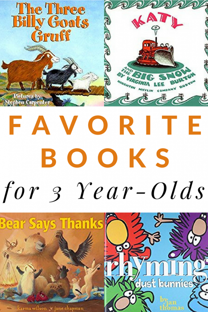 Here are the most favorite books that 3 year-olds tend to love. A great list of books to have in your home or classroom.