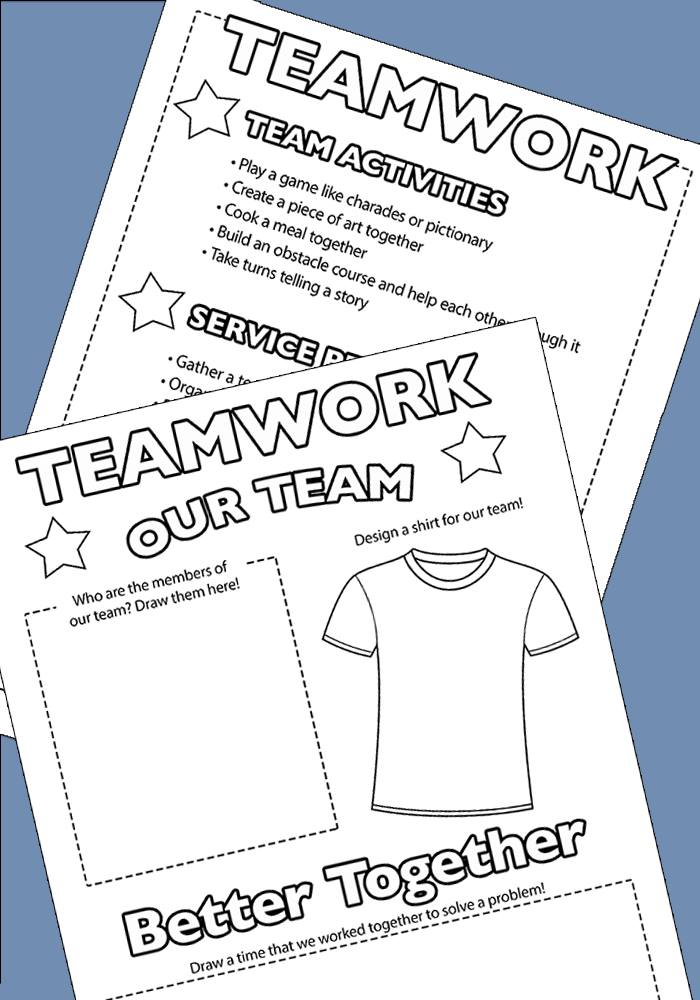 teamwork activities and printables from Sunny Day Family
