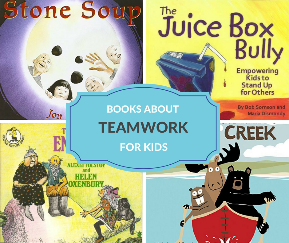 A great character education book list on teamwork. Perfect to use in the classroom or at home to build character in kids.