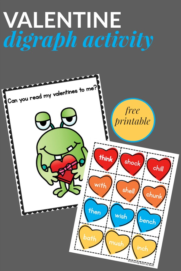 A Valentine themed digraph activity for beginning readers to practice decoding words.