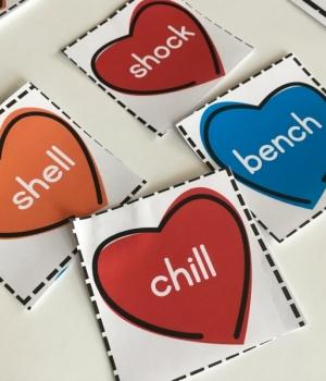cut the valentine heart card apart