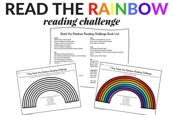 printables for the read the read the rainbow reading challenge
