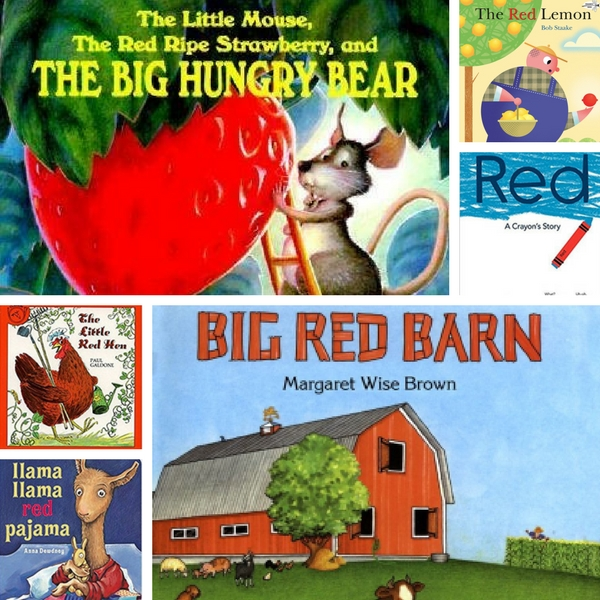 Children's books with red in the title.