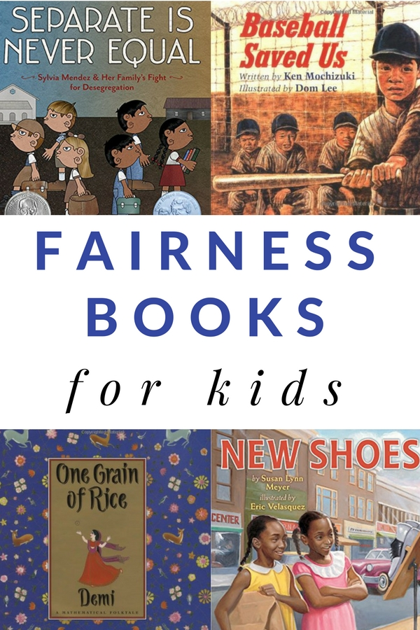 Children's books about fairness to generate conversations with kids about fairness, equality, and justice.