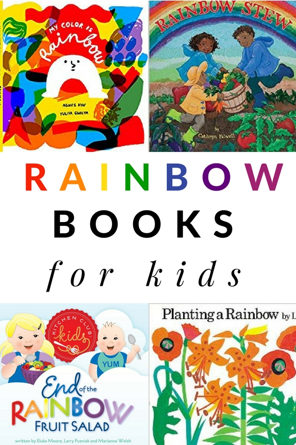 rainbow books for kids for each color of the rainbow