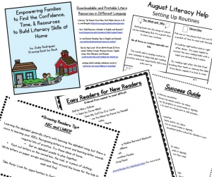 parental involvement printables to encourage literacy at home