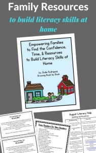 family/parent communication resources to build literacy skills