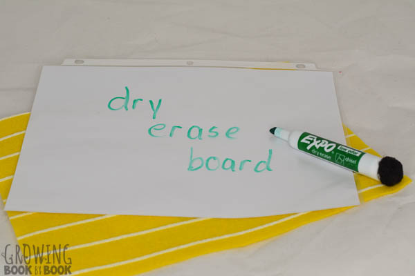 how to make a DIY dry erase board and marker eraser