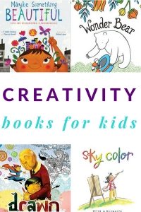 A list of children's books about creativity.