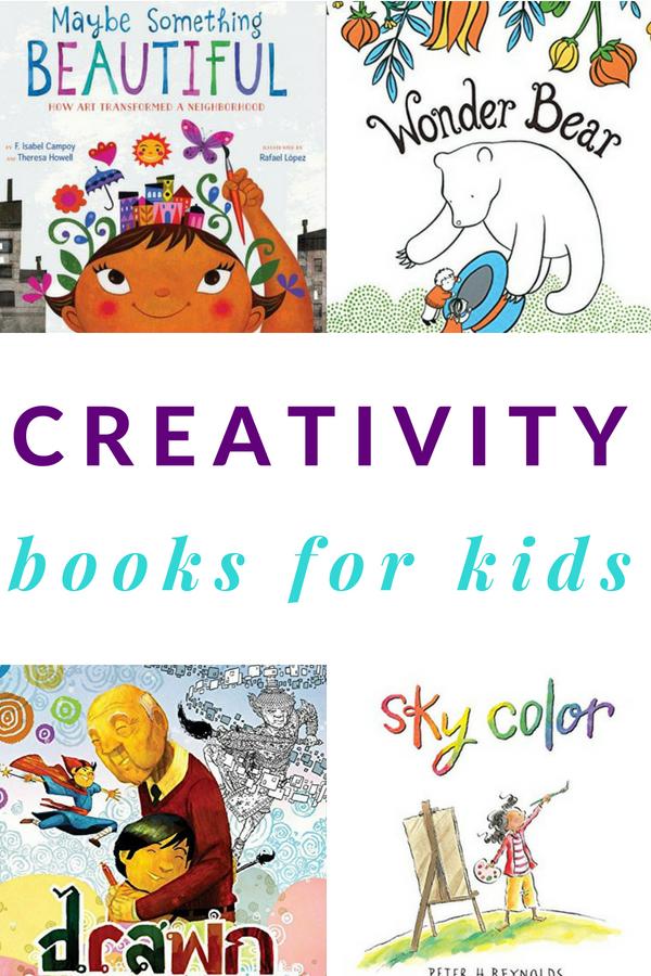 A list of children's books about creativity.