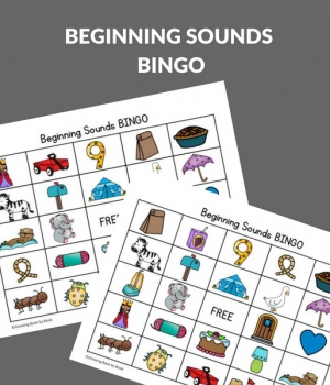 bingo boards for beginning letter sounds