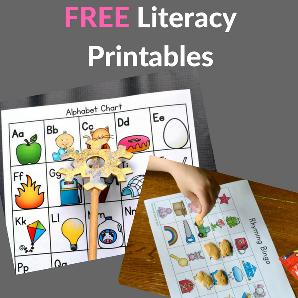 literacy printables you can print for free to use in the classroom or at home.