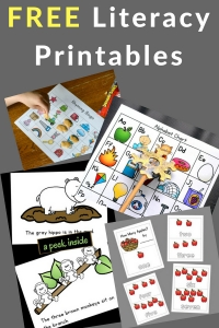 Free literacy printables for reading and writing.