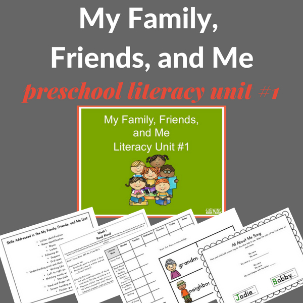 all about me preschool unit that is literacy rich