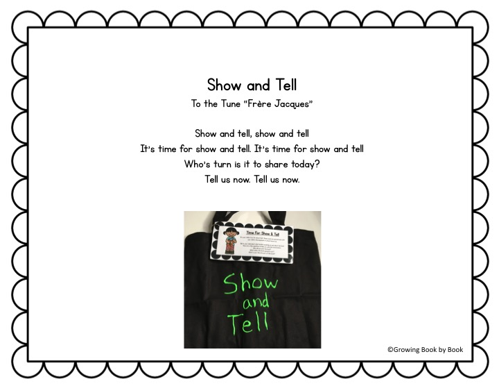 song lyrics for show and tell