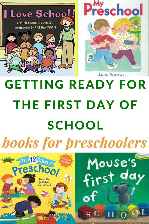 BOOKS ABOUT THE FIRST DAY OF SCHOOL FOR PRESCHOOLERS