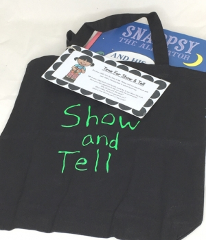 inside a show & tell bag for early childhood kids