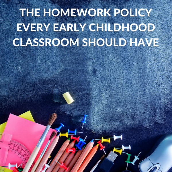 A successful homework policy for early childhood education.