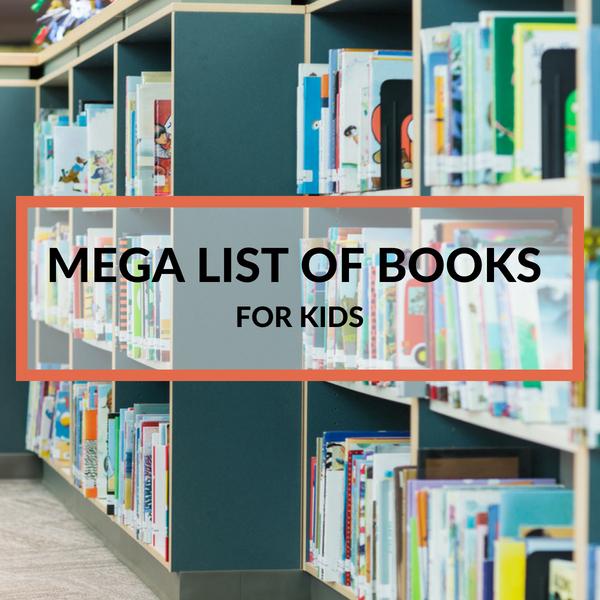 shelves and shelves of books for kids