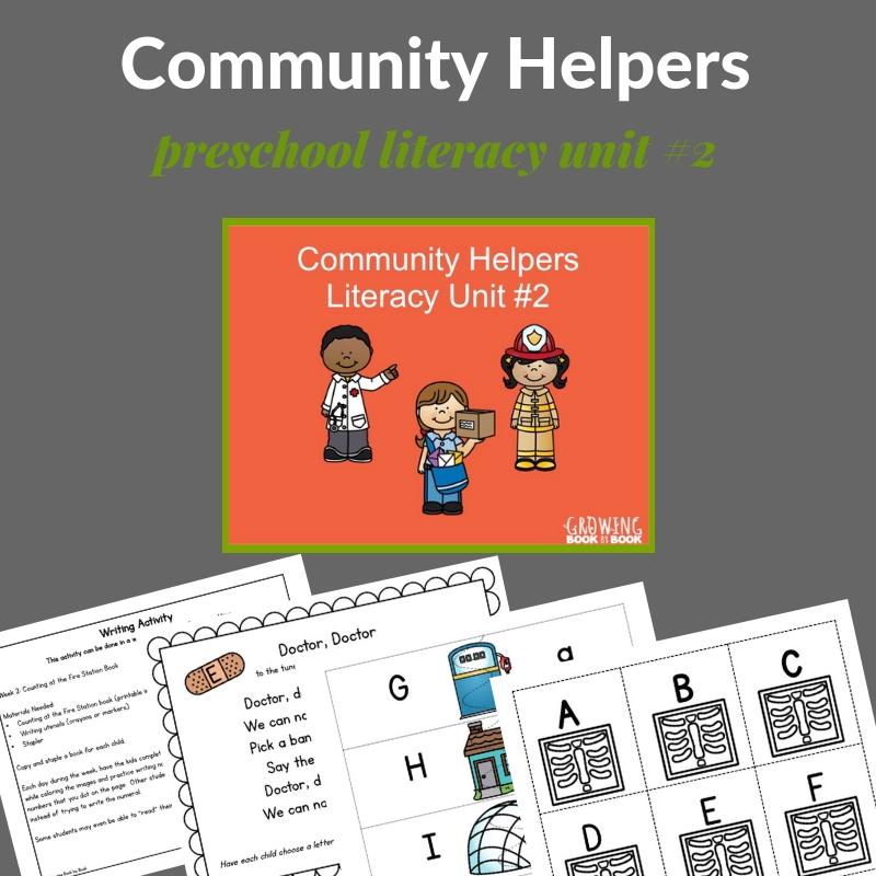 printables for community workers preschool unit