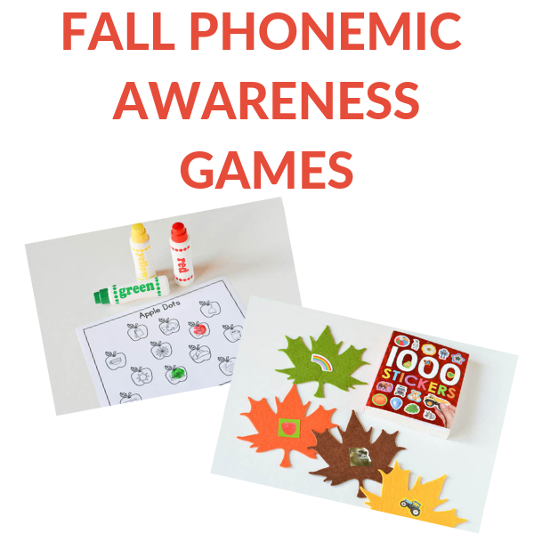 fall themed phonemic awareness activities for preschool and kindergarten