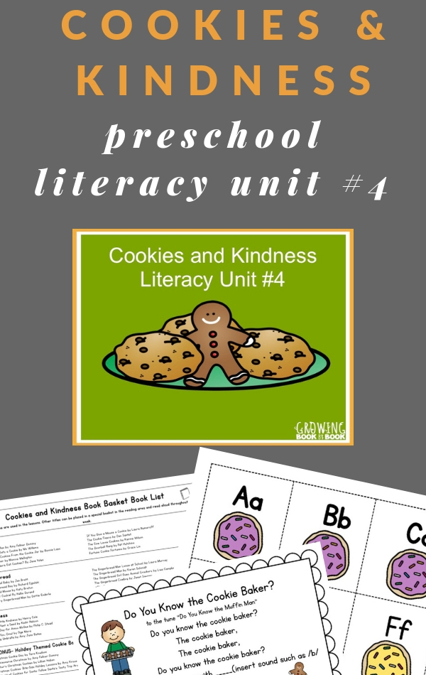 kindness preschool unit and cookie unit