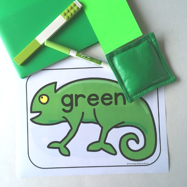 color sort activity to go with the mixed-up chameleon